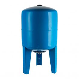 Расширительный бак, гидроаккумулятор 100л синий вертикальный Stout