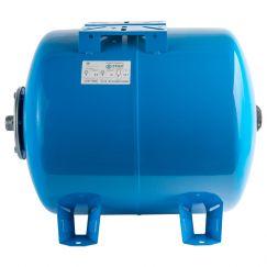 Расширительный бак, гидроаккумулятор 50л синий горизонтальный Stout