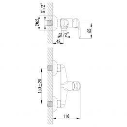 Смеситель Lemark Pramen LM3318C с гигиеническим душем LM3318C
