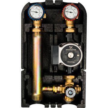 Насосная группа с термостатическим смесительным клапаном 1 с насосом Grundfos UPSO25-65 Stout SDG-0002-002502