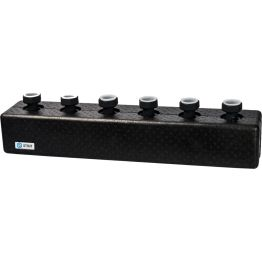 Коллектор распределительный стальной 3 отопительных контура в теплоизоляции ø25 Stout SDG-0016-004003