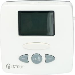 Термостат комнатный электронный WFHT-LCD с выносным датчиком Stout