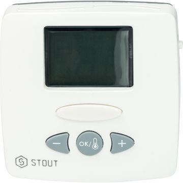 Термостат комнатный электронный WFHT-LCD с выносным датчиком Stout STE-0002-000015