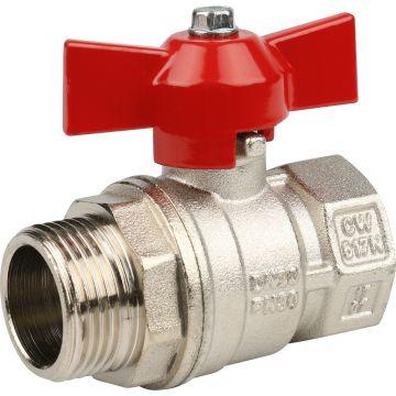 Кран шаровой стандартопроходный ВР/НР бабочка 3/4 Stout SVB-0014-000020
