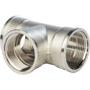 Тройник ВР никель 1 1/4 Stout SFT-0020-000114