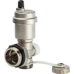 Фитинг концевой 489 AR регулируемый с дренажным клапаном автоматическим воздухоотводчиком 1