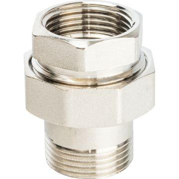 Соединение разъемное американка ВН никель 1 уплотнение под гайкой o-ring кольцо Stout SFT-0041-000001