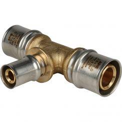 Тройник переходной ø26*16*26 для металлопластиковых труб пресс STOUT (5/50)