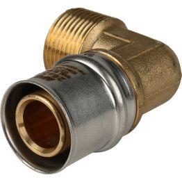 """Угольник НР ø3/4""""x26 для металлопластиковых труб пресс STOUT (5/100)"""