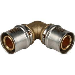 Угольник 90° ø26*26 для металлопластиковых труб пресс STOUT (5/70)