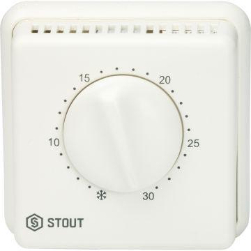 Термостат комнатный проводной TI-N переключатель зима-лето светодиод Stout STE-0001-000001