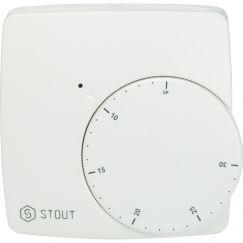 Термостат проводной электронный норм. откр. WFHT-BASIC со светодиодом Stout