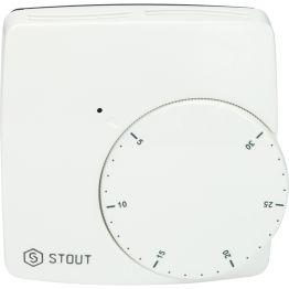 Термостат проводной электронный норм. закр. WFHT-BASIC со светодиодом Stout