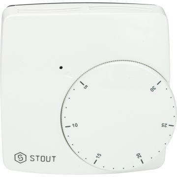 Термостат проводной электронный норм. закр. WFHT-BASIC со светодиодом Stout STE-0002-000004