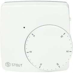"""Термостат комнатный электронный WFHT-DUAL включ. дистан датчик """"в пол"""" 3м Stout"""