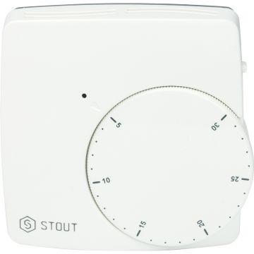 Термостат комнатный электронный WFHT-DUAL включ. дистан датчик в пол 3м Stout STE-0002-000010