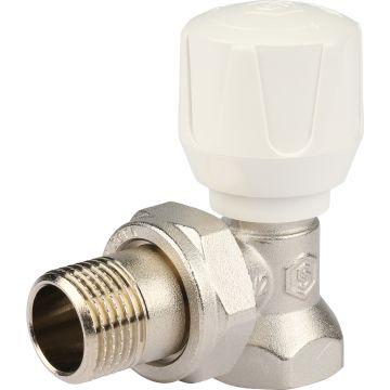 Клапан ручной регулировки угловой с закрытием затвора металл по металлу 1/2 Stout SVR-2102-000015