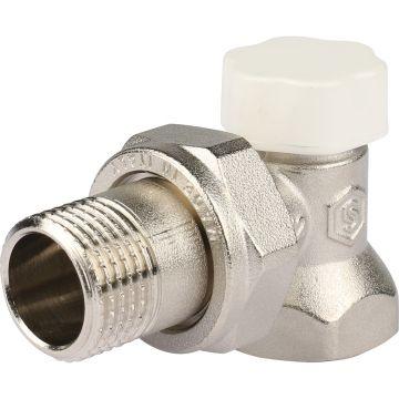 Клапан запорно-балансировочный угловой с закрытием затвора металл по металлу 1/2 Stout SVL-1156-000015