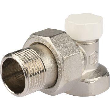 Клапан запорно-балансировочный угловой с закрытием затвора металл по металлу 3/4 Stout SVL-1156-000020