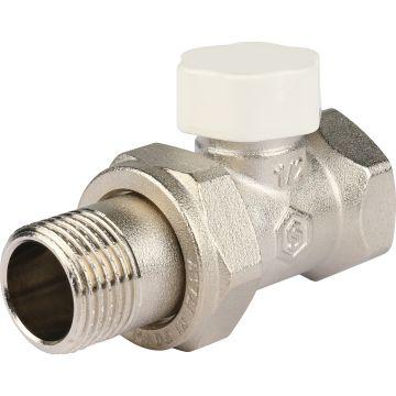 Клапан запорно-балансировочный прямой с закрытием затвора металл по металлу 1/2 Stout SVL-1176-000015