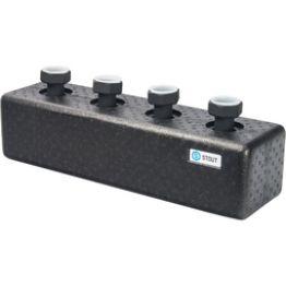 Коллектор распределительный стальной 2 отопительных контура в теплоизоляции ø25 Stout