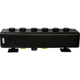 Коллектор распределительный стальной 3 отопительных контура в теплоизоляции ø32 Stout