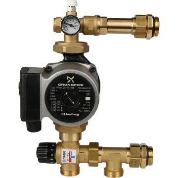Насосно-смесительный узел с термостатическим клапаном 20-43°C с насосом Stout SDG-0020-004001
