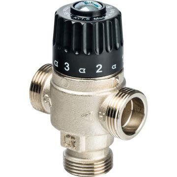 Клапан смесительный термостатический для отопления и ГВС 3/4 НР 30-65°C KV 1,8 центр смеш-ие Stout SVM-0025-186520