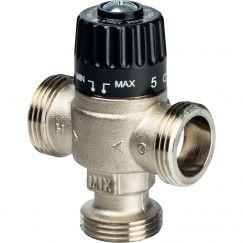 """Клапан смесительный термостатический для отопления и ГВС 1"""" НР 30-65°C KV 1,8 центр смеш-ие Stout"""