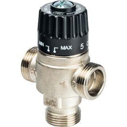 """Клапан смесительный термостатический для отопления и ГВС 3/4"""" НР 30-65°C KV 2,3 центр смеш-ие Stout"""