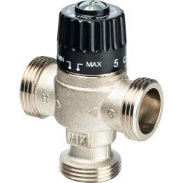"""Клапан смесительный термостатический для отопления и ГВС 1"""" НР 30-65°C KV 2,3 центр смеш-ие Stout"""