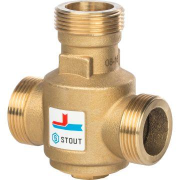 Клапан смесительный термостатический G 1 1/4 НР 55°C Stout SVM-0030-325504