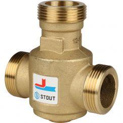 """Клапан смесительный термостатический G 1"""" 1/4 НР 60°C Stout"""