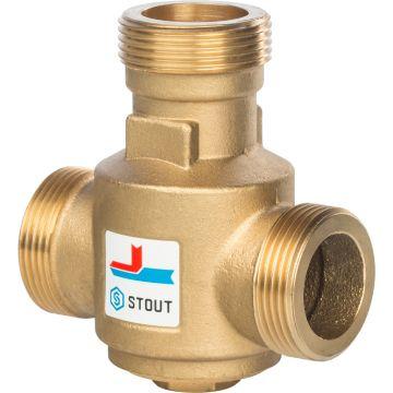Клапан смесительный термостатический G 1 1/4 НР 70°C Stout SVM-0030-325508