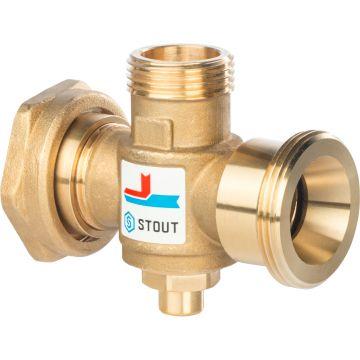 Клапан смесительный термостатический G 1 1/2 M-G 1 1/2F-G 1 M 60°C Stout SVM-0050-326006