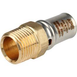 """Переходник НР ø1/2""""x16 для металлопластиковых труб пресс STOUT (10/250)"""