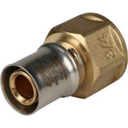 """Переходник ВР ø3/4""""x20 для металлопластиковых труб пресс STOUT (10/120)"""