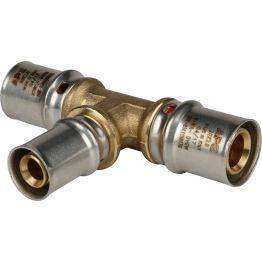 Тройник переходной ø20*16*20 для металлопластиковых труб пресс STOUT (10/80)