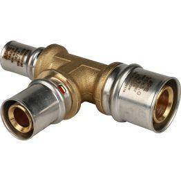 Тройник переходной ø26*20*16 для металлопластиковых труб пресс STOUT (5/50)