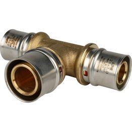 Тройник переходной ø26*32*26 для металлопластиковых труб пресс STOUT (5/30)