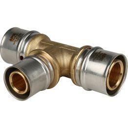 Тройник переходной ø32*26*32 для металлопластиковых труб пресс STOUT (5/30)