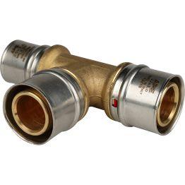 Тройник переходной ø32*32*26 для металлопластиковых труб пресс STOUT (5/30)