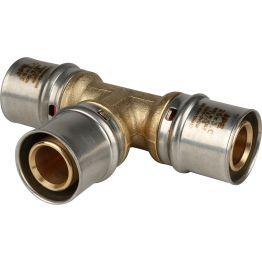 Тройник ø26 для металлопластиковых труб пресс STOUT (5/45)