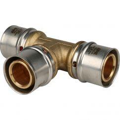 Тройник ø32 для металлопластиковых труб пресс STOUT (5/30)