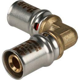 Угольник 90° ø16*16 для металлопластиковых труб пресс STOUT (10/150)