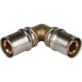 Угольник 90° ø20*20 для металлопластиковых труб пресс STOUT (10/100)