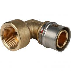 """Угольник ВР ø1""""x32 для металлопластиковых труб пресс STOUT (5/50)"""