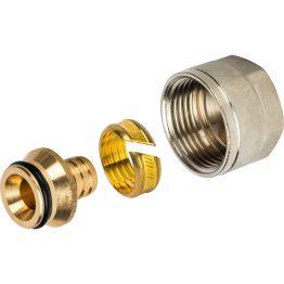 Фитинг компрессионный для труб PE-X ø16*2,2*1/2