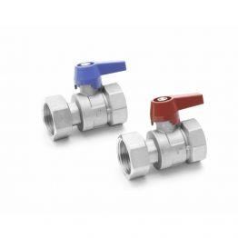 """Комплект двух шаровых кранов G1"""" для коллекторов HKV/HLV никель REHAU"""