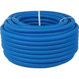 Труба гофрированная ПНД ø40 для труб 25-32мм, синяя (бухта 30м) Stout